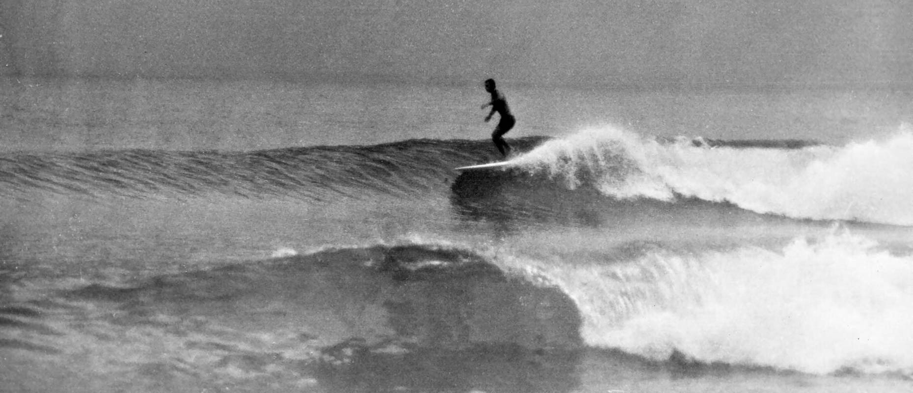 Mal surfing  Kirra Point 1961